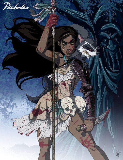 Twisted Princess: Pocahontas by ~jeftoon01