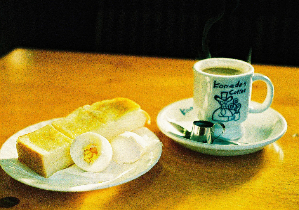 hachimitsu:  komeda morning set (by bobby stokes)