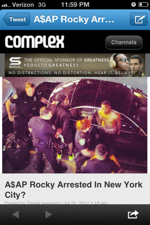 Bothe asap rocky and asap bari arrested  http://m.complex.com/music/2012/07/asap-rocky-arrested-in-new-york-city?nocache=1