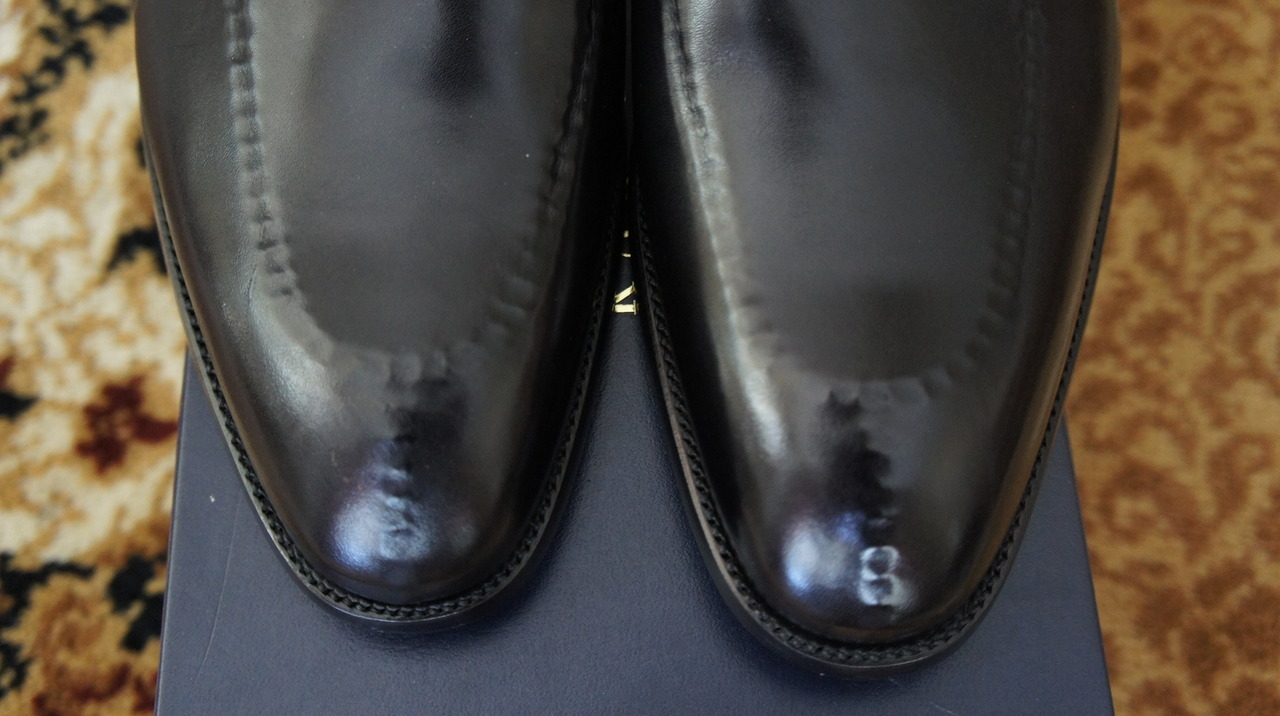 "Hidden Toe Stitching Done Well: RLPL ""Garth"" Split-Toe Penny Loafer"