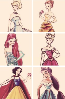 lace-me-tighter:  Disney princess sketches, and beautiful ones at that.
