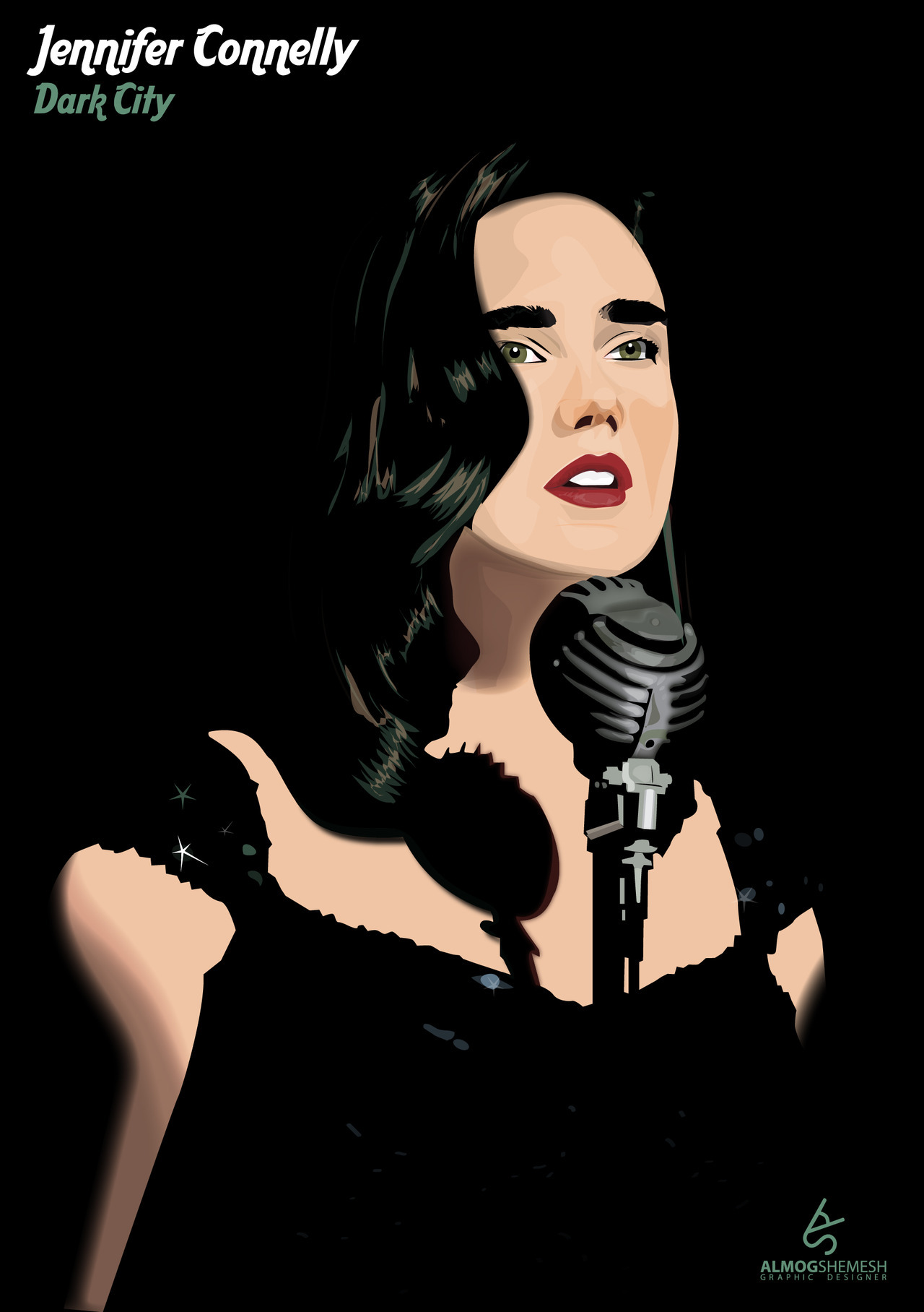 Jennifer Connelly illustration
