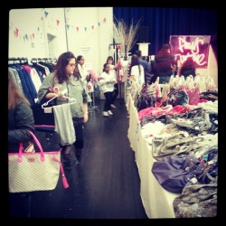 Morning Shoppers at the #PBsamplesale  (Taken with Instagram)