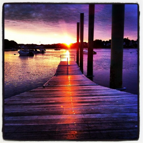 Good morning!  Nice day for race to @provincetown #sunrise (Taken with Instagram at Kernwood Bridge)