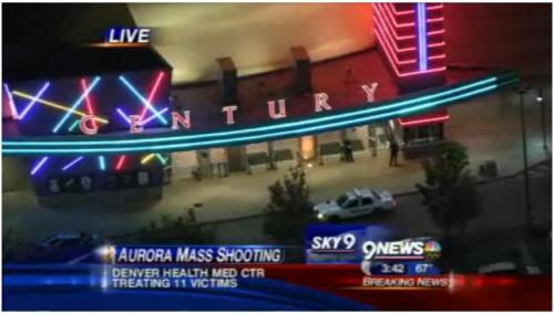 "Police: 14 dead in Colorado theater shooting Police Chief Dan Oates says 14 people are dead following a shooting at suburban Denver movie theater.He says 50 others were injured when a gunman opened fire early Friday at the Aurora theater.Oates says one gunman stood at the front of one of the Century 16 theaters at the Aurora Mall.He says ""witnesses tell us he released some sort of canister. They heard a hissing sound and some gas emerged and the gunman opened fire.""There was no immediate word of any motive.Police say one person has been arrested and there is no evidence of any additional shooters. Image Credit: (9news.com)"
