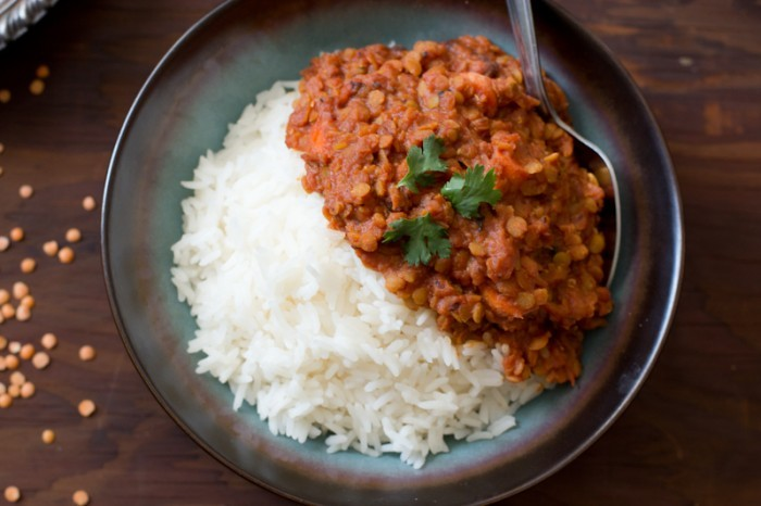 Spicy Red Lentil & Tomato Curry