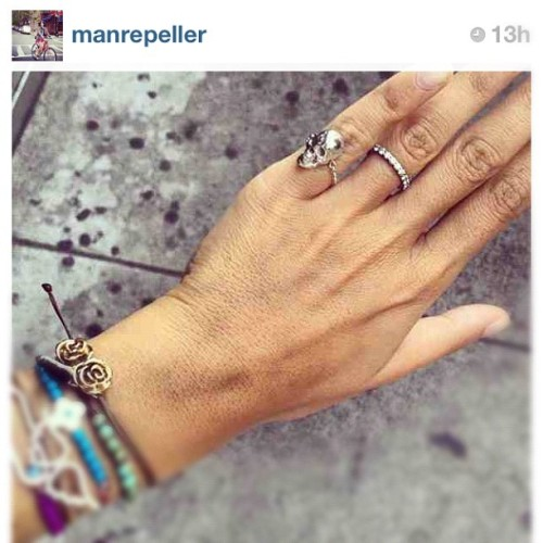 Mrs @manrepeller's pinkie ring & rose bracelet => www.leivankash.com #leivankash #jewellery  (Taken with Instagram)