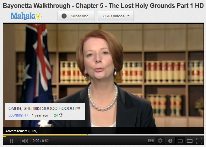 these julia gillard ads are starting to appear in quite comedic places