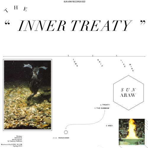 "slowpete:  ""THE INNER TREATY,"" the 6th Album from SUN ARAW, available from SUN ARK RECORDS via DRAG CITY on September 18th, 2012  I've been listening to ""Like Wine"" all morning."