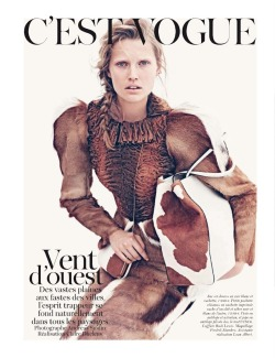 Vogue Paris August 2012 C'est Vogue Photographer: Andreas Sjödin Model: Toni Garrn