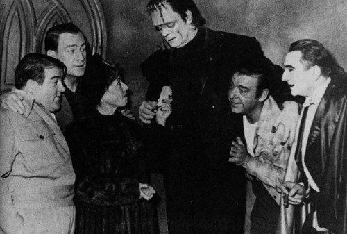 Behind the scenes shot from Abbott & Costello meet Frankenstein (1948)