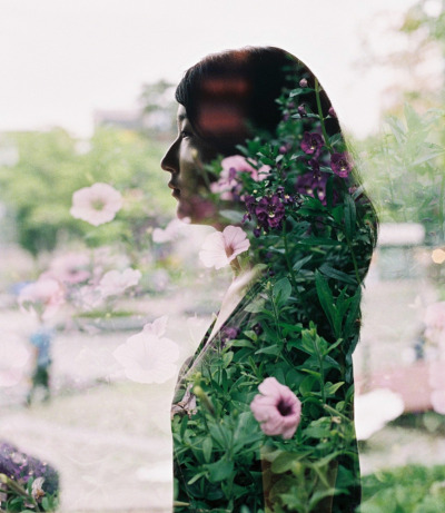 Double exposure at Ewha University.