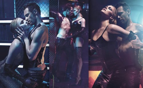 Charlize Theron & Michael Fassbender are hot for W (August issue) by Mario Sorrenti