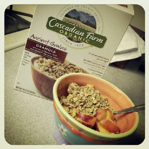 Cereal b4 the gym. Gotta hurry! #Food #Nutrition #Health #organic (Taken with Instagram)
