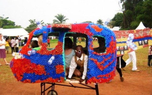unconsumption:  Ugandan Artists Creates A Local Park Out Of Garbage - PSFK:  By using recycled material to create this playground, Tusingwire is sparking creative ways for the children to actively participate in environmental initiatives.  The project was awarded the 2012 TED Prize at the TEDxSummit in Doha, Qatar.