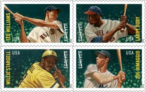 Play ball! The Major League Baseball All-Stars stamps slide into Post Offices nationwide today. And don't forget: There will be ceremonies in Boston, Cleveland, Pittsburgh, and New York tomorrow.