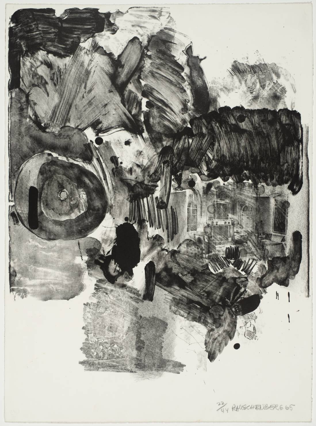 Robert Rauschenberg - Visitation II, 1965. Lithograph on paper