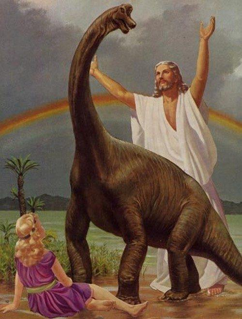 friendlyatheist:  murderhorse:  DINOSAURZ  Seventh Day Adventist Science