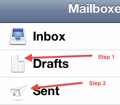 littlebigdetails:  iOS Mail - The icons represent instructions on how to fold a paper airplane. /via michaelgrothaus  Genius bit of visual wit!
