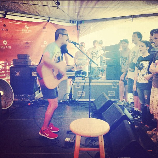 frubes:  The wonderful @kojisaysaloha yesterday at Mansfield #WarpedTour (Taken with Instagram)