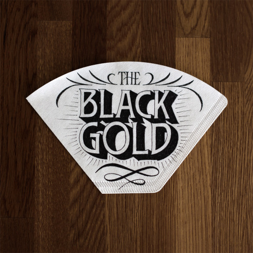 coffeemademedoit:  The black gold - The third of four coffee filters I did for Draw Coffee.