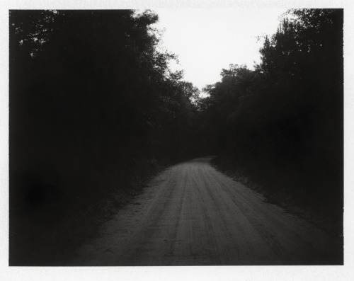 Road to Ark Lodge, Dusk, 2012, by Jen Ervin Polaroid Land 100