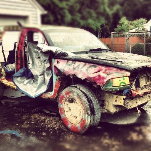 Rally cars ain't what the used to be.  #mud#truck#suv#paint#tagging (Taken with Instagram)