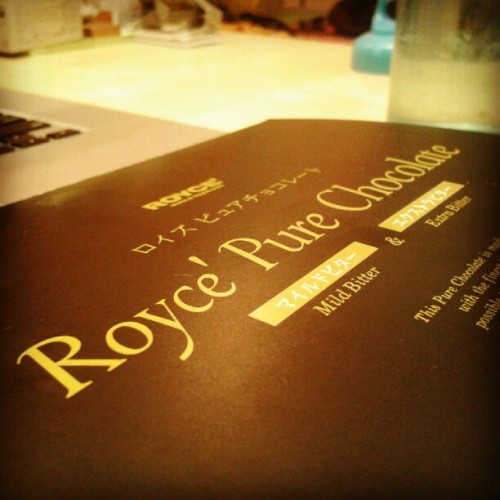 Lallaalalala Royce Dark Chocolate! (Taken with Instagram)