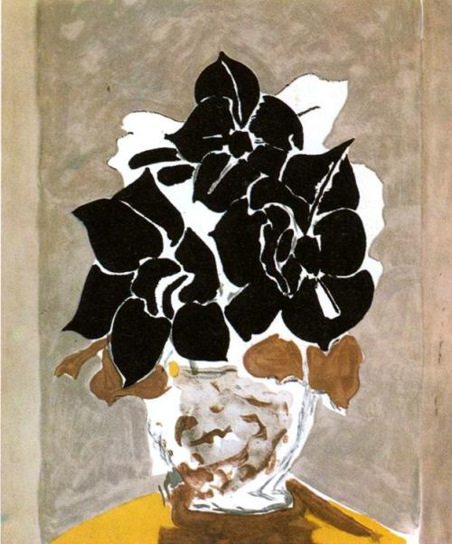 """Amaryllis"" iamjapanese:  Georges Braque(French, 1882-1963) Amaryllis 1958 Color Etching"