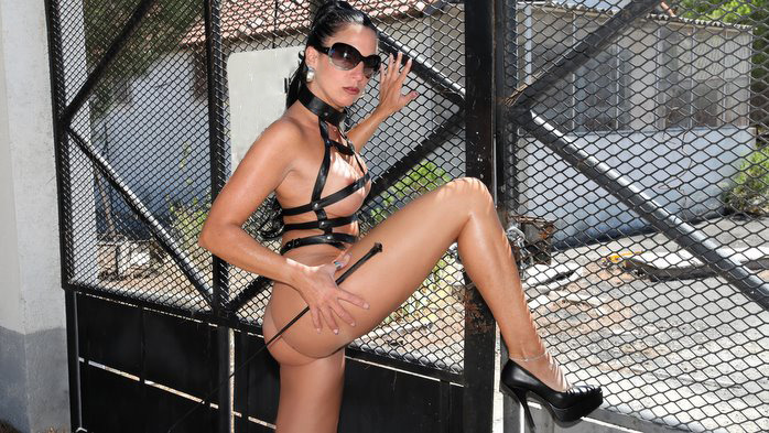 I really enjoy wearing my leather harness, with my stilettos and whip out in public. And you will obey my every command. Want to see more? You know what to do.