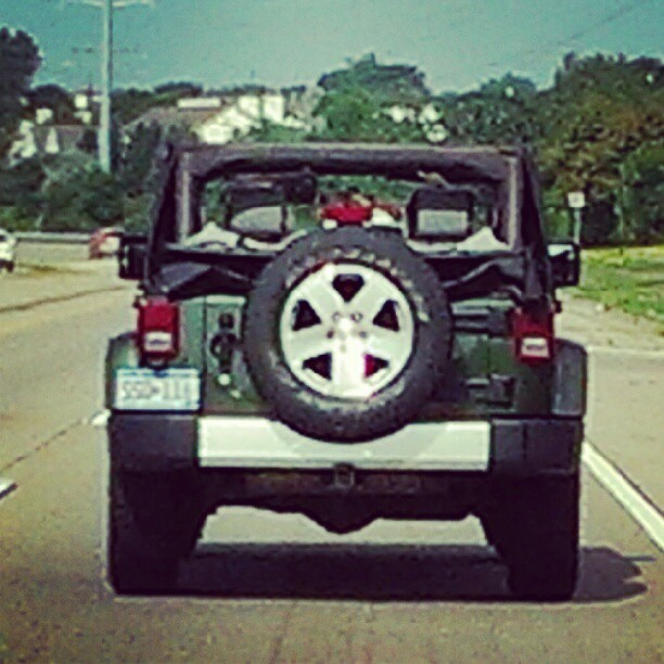 It's a Jeep day, so why am I behind it instead of in it. (Taken with Instagram)