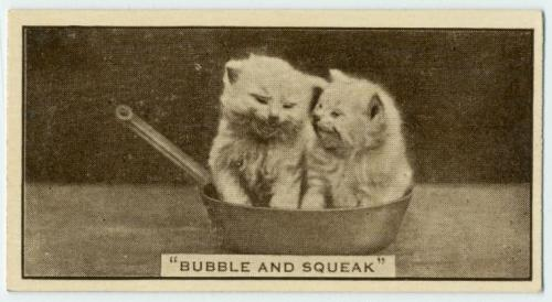 """Bubble and Squeak"" ca. 1932-1934 Arents cigarette card"