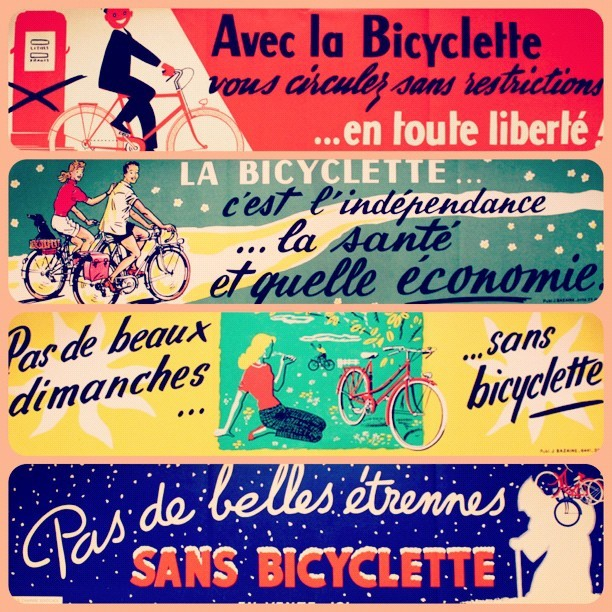 bicyclestore:  Vintage French cycling posters