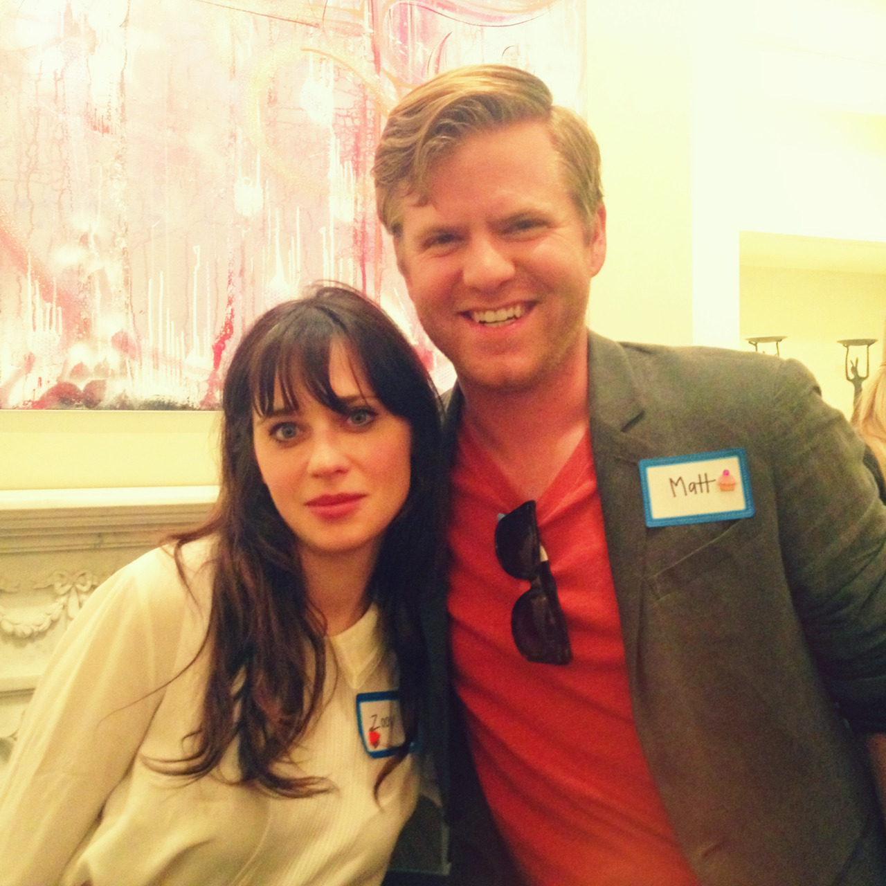 Got to meet at chat with Zooey Deschanel last night. Needless to say, it was pretty awesome.