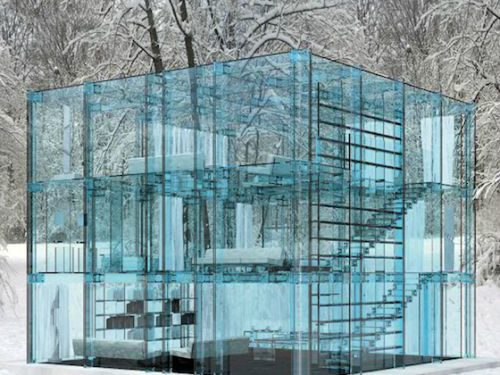 w2mymoonworld:  Homes Constructed Entirely Out Of a blue hued glass by Santambrogio via @Inthralld More at inthralld.com