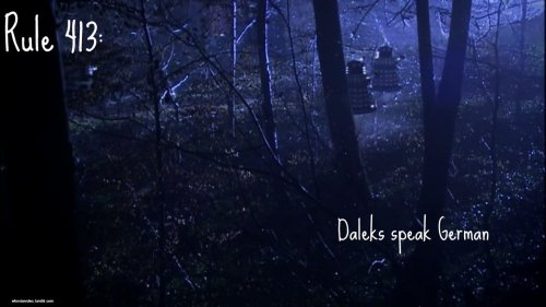 Rule 413: Daleks speak German