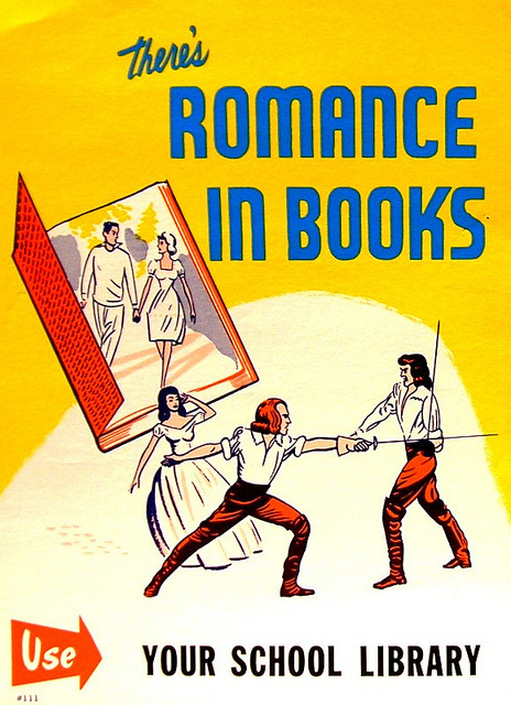 RETRO POSTER - There's Romance in Books by Enokson on Flickr.
