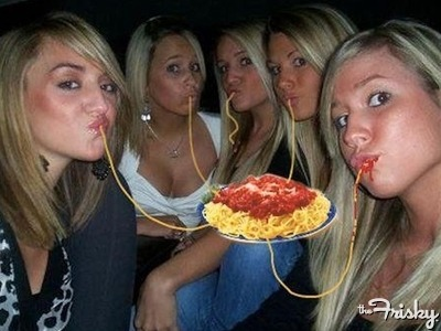 What If Everyone Who Does Duckface Is Actually Eating Invisible Spaghetti?