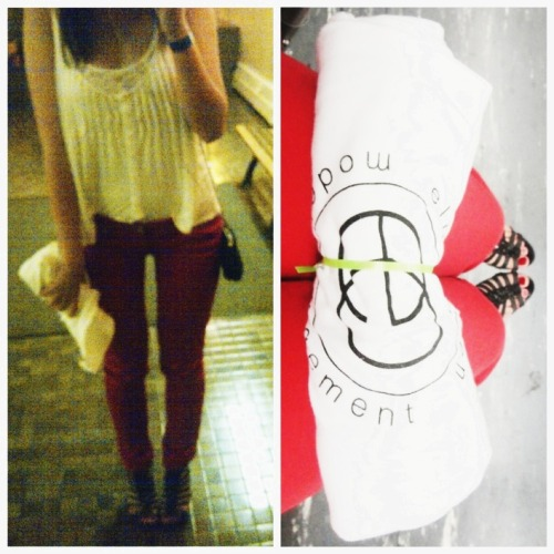 07192012 white zoa tank top. white talula lace tank. red skinny jeans. black sam edelman gladiator heels. black forever 21 sequinned cross bag. crappy photo @ 2 in the morning. class. bus ride. rightside. elmer olsen model party @ this is london. suits <3. cherry chocolate chunks haagen-daz. toasted marshmallows. in general, a pretty kick ass day :)
