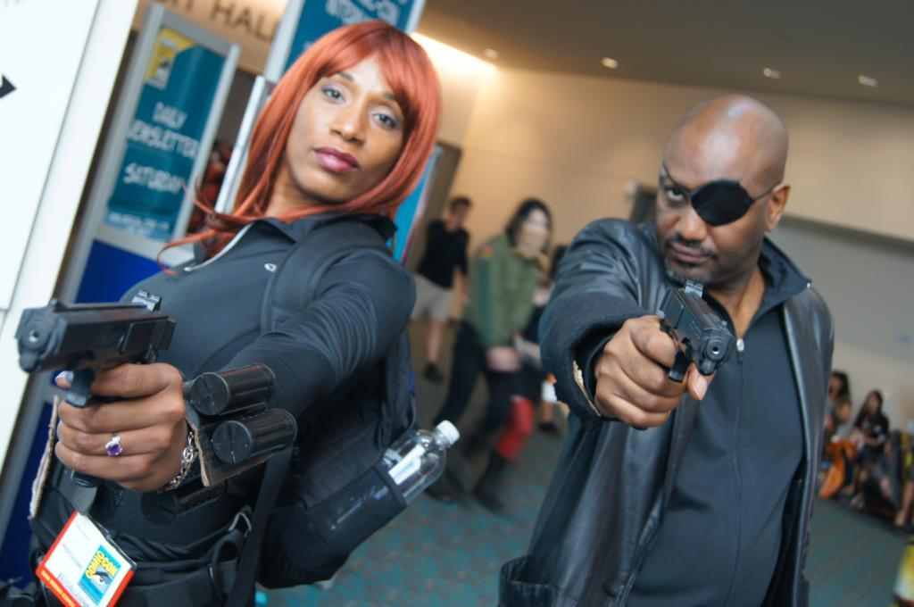 X Character: Black Widow & Nick Fury Series: The Avengers