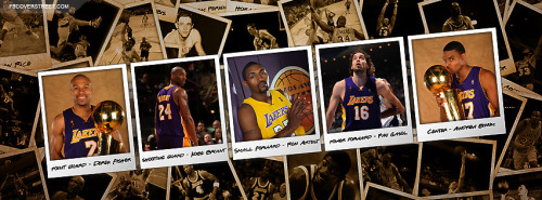 Los Angeles Lakers Team Polaroids