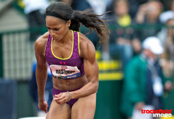 trackandfieldimage:  Strength and Beauty , Natasha Hastings , Olympic Trials . www.trackandfieldimage.com