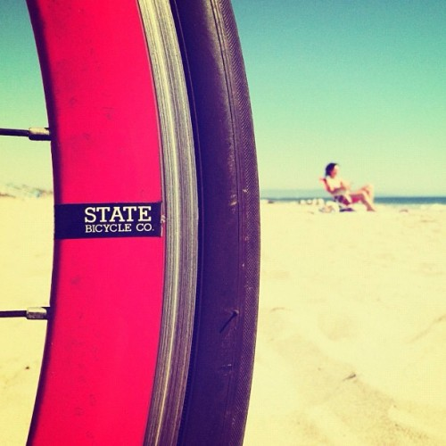 statebicycle:  Good morning 🌴☀🌊 @navisphotography #statebicycleco (Taken with Instagram)