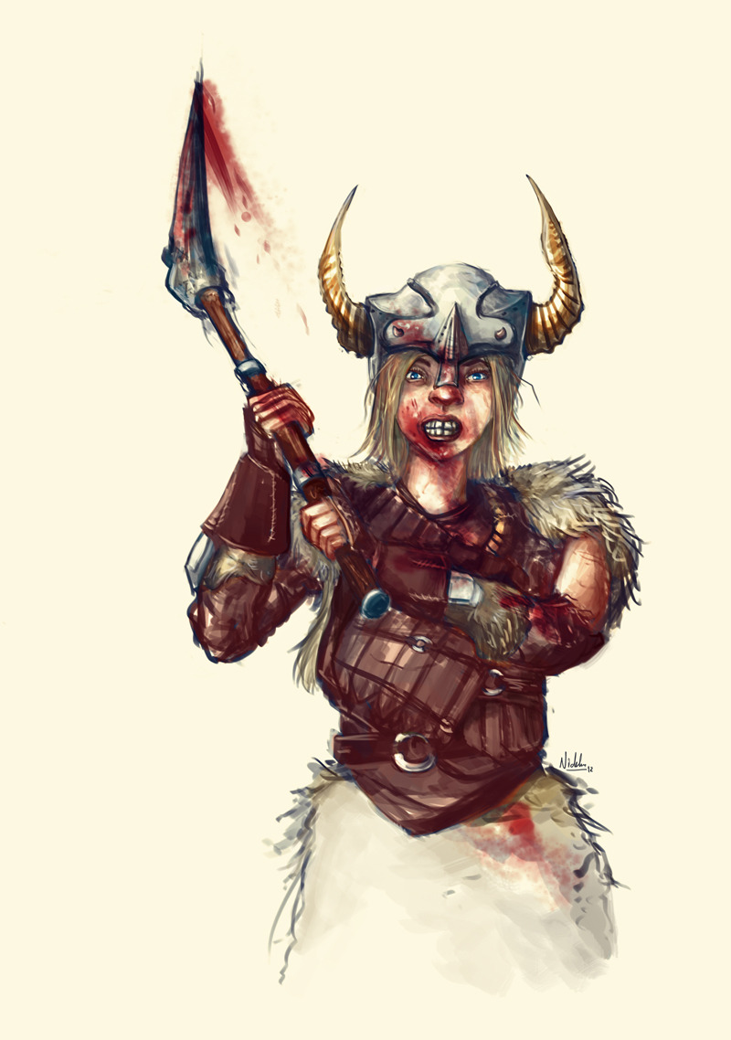 I am a viking too.  Made most of this yesterday but I did do some small fixes here and there today just now. Good music is a must when you draw, the flow affects how you do the lines. To this I listened to Public Enemy. It might be an odd choice to decide to do a viking to this but no, it did wonders. It would probably have been less rage in the drawing otherwise.