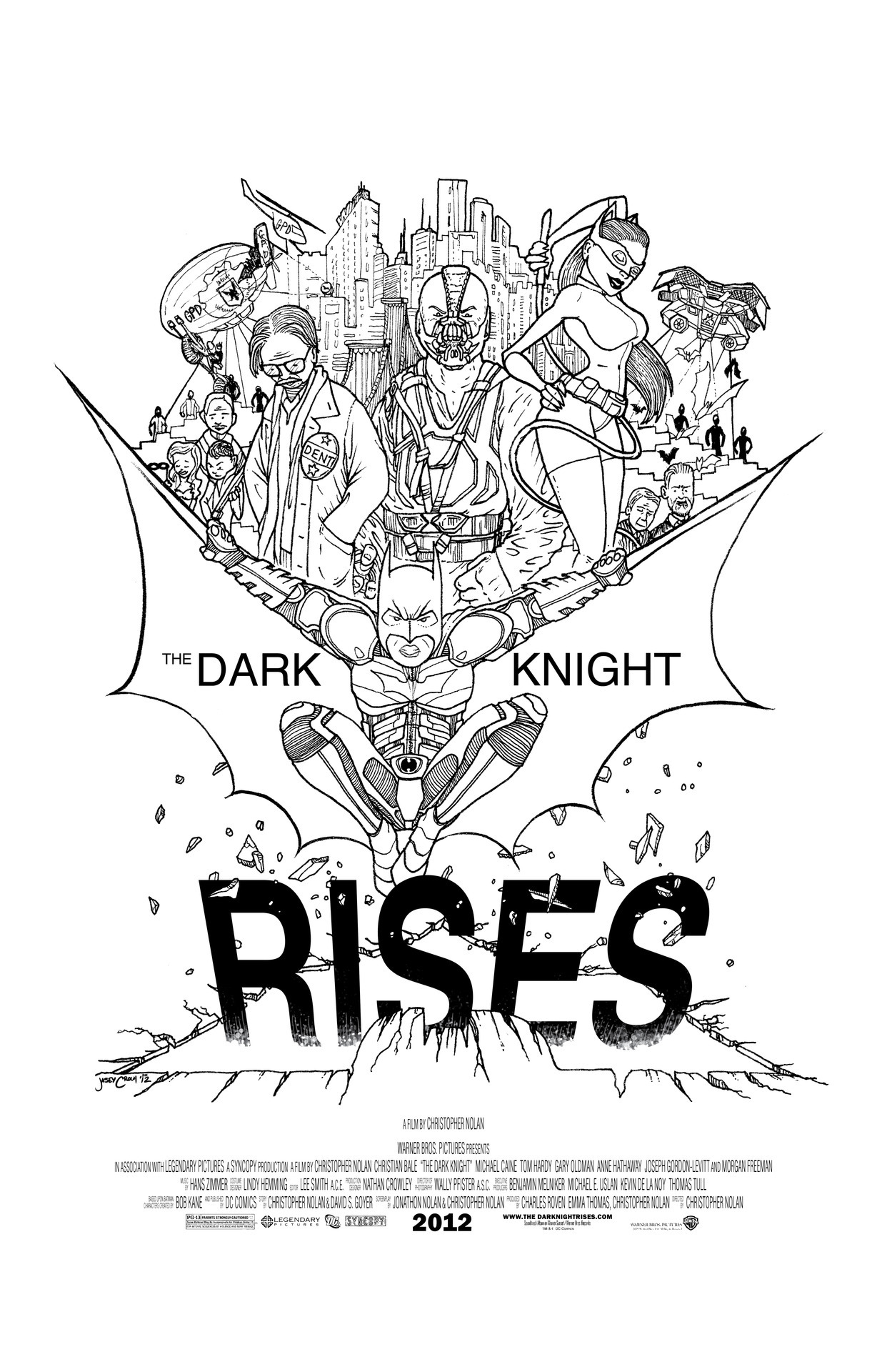 HE IS RISEN INDEED!!!  The Dark Knight Rises - http://society6.com/jaseycrowl Limited Edition B&W Poster and T @ society6  Batman recommends you read the new book you're COLOR by Jasey Crowl @ http://yourecolor.com  Original art and writing © Jasey Crowl 2012 http://jaseycrowl.com