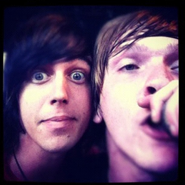 Hanging with @kellinquinn on stage at Warped Tour yesterday. #lionslions #sleepingwithsirens #lovethoseguyshard #stolethispicfromkellin #yup (Taken with Instagram at Vans Warped Tour)