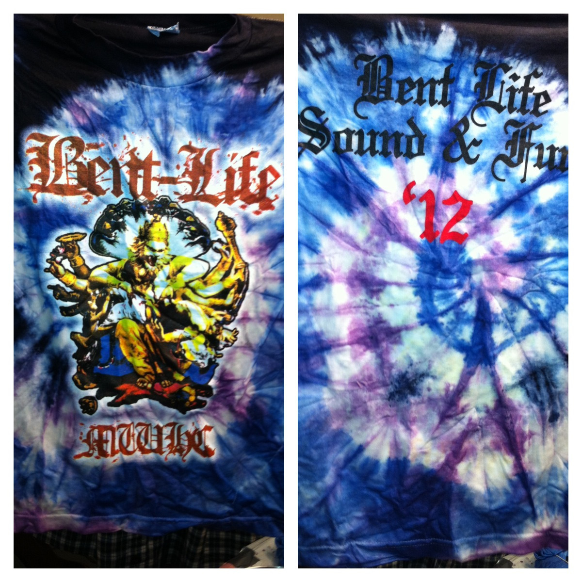 Bent Life Sound and Fury 2012 shirts.