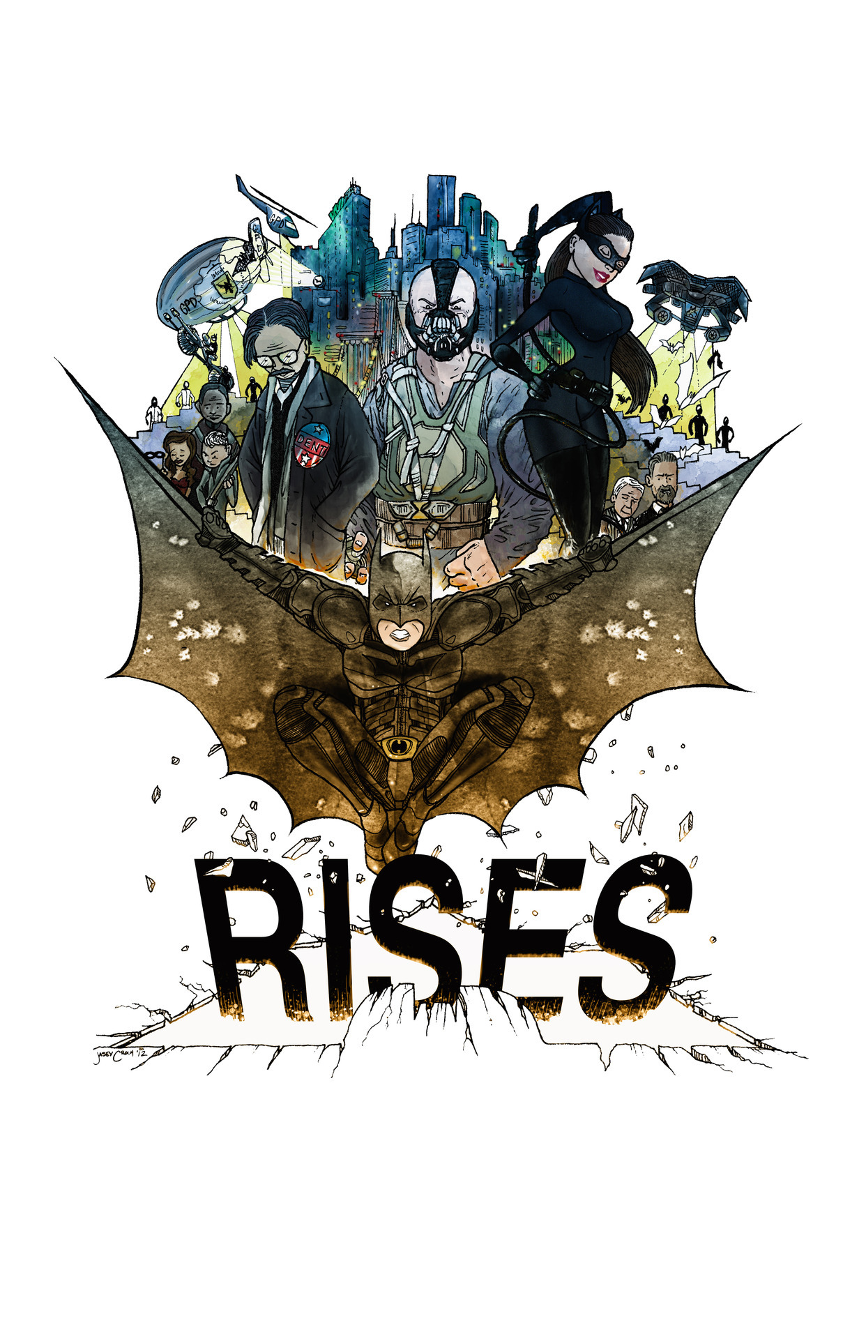 HE IS RISEN INDEED!!! The Dark Knight Rises -http://society6.com/jaseycrowlLimited Edition whiteAmerican Apparel Organic Fine Jersey T-shirts are made with 100% USDA Certified Organic cotton combed for softness and comfort & American Apparel Fine Jersey T-shirts are made with 100% fine jersey cotton combed for softness and comfort.Batman recommends you read the new book you're COLOR by Jasey Crowl @ http://yourecolor.comOriginal art and writing © Jasey Crowl 2012 http://jaseycrowl.com