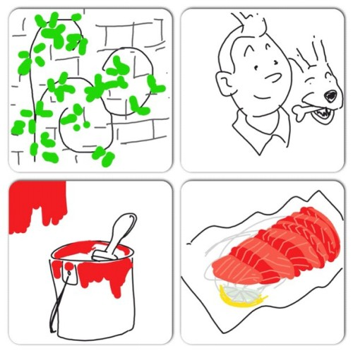 #instacollage #vines #tintin again in a hurry #paintcan #sashimi (Taken with Instagram)
