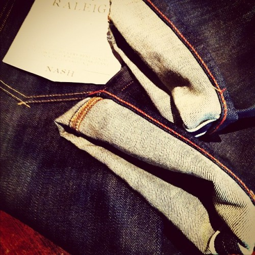 Raleigh Denim - #RawDenim #Selvedge #Classic #Denim #RaleighDenim #MadeInAmerica  (Taken with Instagram)